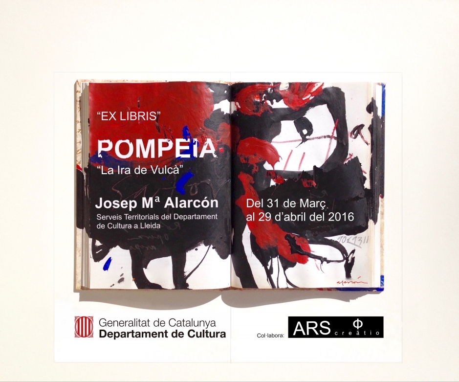 Banderoles. Ex-libris. POMPEIA, La Ira de Vulcà. Abril 2016.  SSTT d Cultura  .  SSTT d Cultura